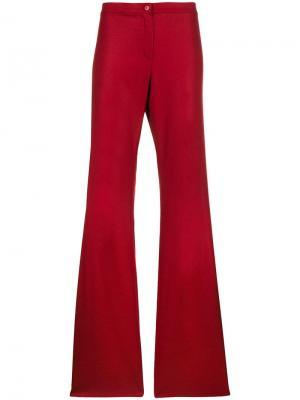 Расклешенные брюки Romeo Gigli Pre-Owned. Цвет: красный