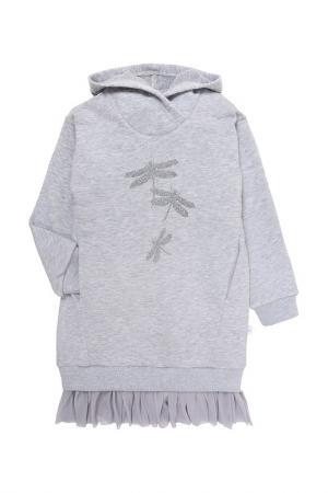 Платье Мамуляндия. Цвет: серый меланж