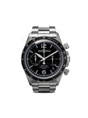 Часы BR V2-94 Black Steel Chronograph Bell & Ross. Цвет: matt черный b steel