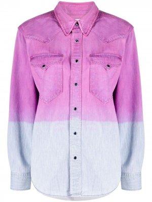 Джинсовая рубашка с эффектом деграде Isabel Marant Étoile. Цвет: фиолетовый