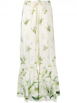Расклешенные брюки May Lily RED Valentino. Цвет: зеленый