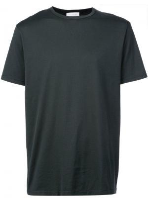 Классическая футболка Sunspel. Цвет: зеленый