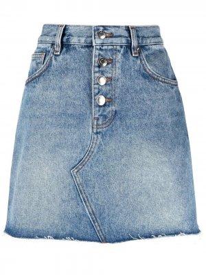 Джинсовая юбка мини Fouza IRO. Цвет: синий