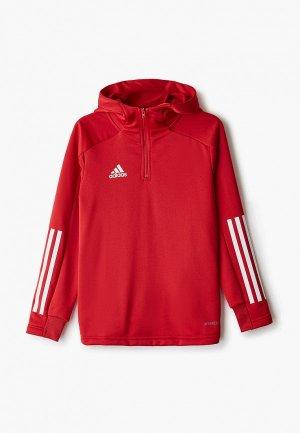 Толстовка adidas. Цвет: красный