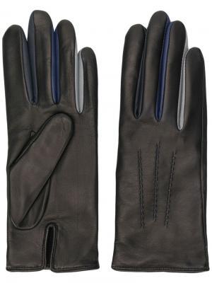 Перчатки с вырезными деталями Agnelle. Цвет: черный
