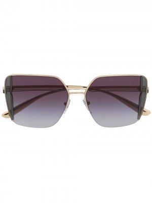 Солнцезащитные очки B.zero1 в квадратной оправе Bvlgari. Цвет: черный