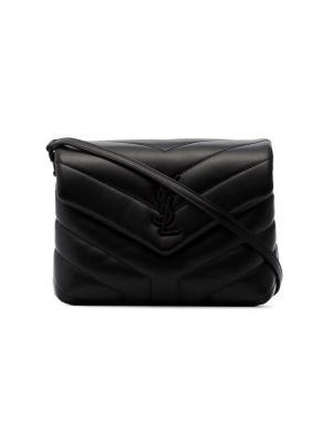Стеганая сумка через плечо Toy Loulou Saint Laurent. Цвет: черный