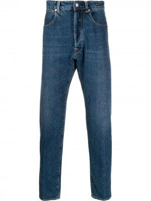 Зауженные джинсы Golden Goose. Цвет: синий