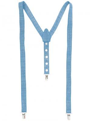Джинсовые подтяжки Manokhi. Цвет: синий