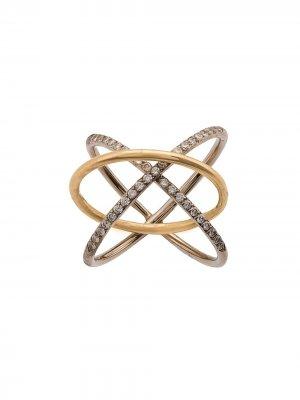 Двойное кольцо Charlotte Chesnais. Цвет: желтый