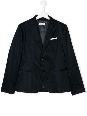 Teen classic blazer Paolo Pecora Kids. Цвет: синий