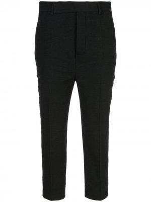 Укороченные брюки строгого кроя Rick Owens. Цвет: черный