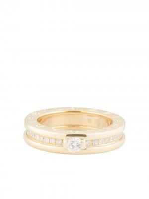 Золотое кольцо B.Zero1 с бриллиантами Bvlgari. Цвет: желтый