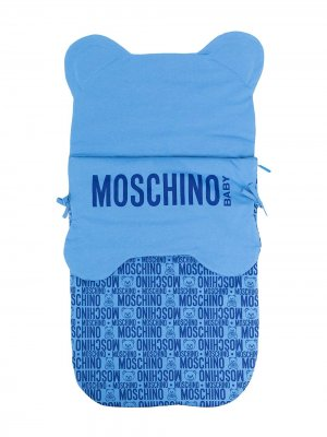 Конверт Teddy с логотипом Moschino Kids. Цвет: синий