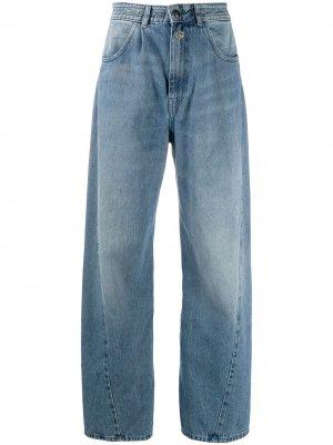 Широкие джинсы Semicouture. Цвет: синий