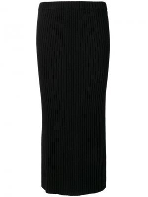Юбка миди с ребристой фактурой Allude. Цвет: черный