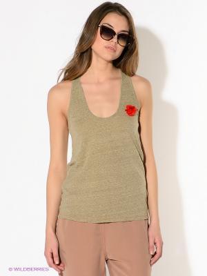 Топ American Outfitters. Цвет: серо-зеленый