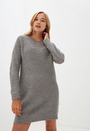 Платье Noisy May. Цвет: серый