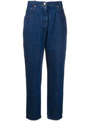 Зауженные джинсы с завышенной талией Patou. Цвет: синий