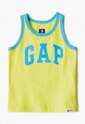 Майка Gap. Цвет: желтый