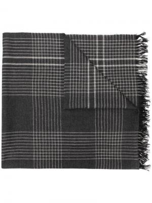 Кашемировый шарф в клетку Begg & Co. Цвет: серый
