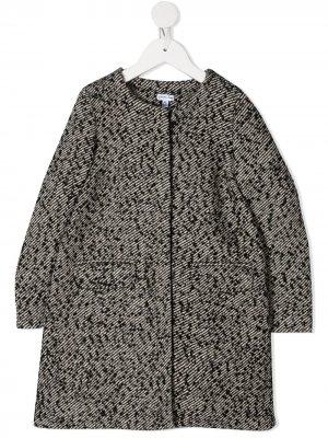 Пальто с бантом Piccola Ludo. Цвет: черный