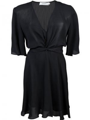 Платье с короткими рукавами A.L.C.. Цвет: черный