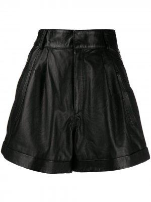 Расклешенные шорты Manokhi. Цвет: черный