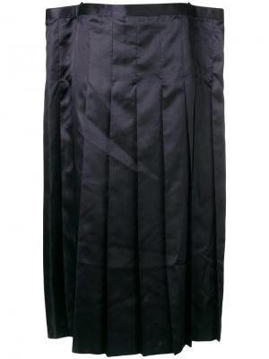 Плиссированная юбка миди Junya Watanabe. Цвет: черный