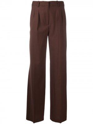 Прямые брюки Loulou Studio. Цвет: коричневый
