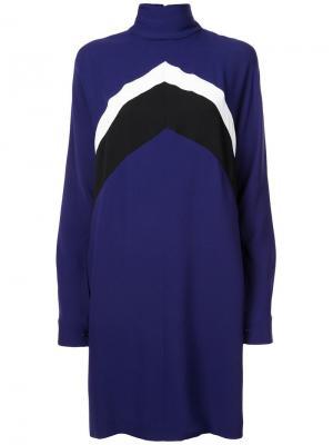 Платье с узором шеврон Derek Lam. Цвет: синий