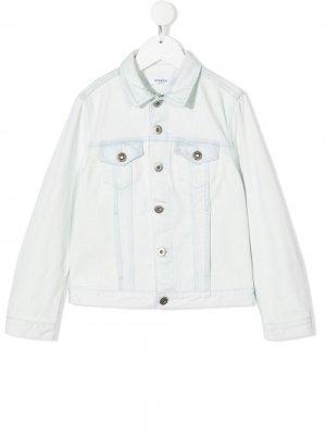 Джинсовая куртка на пуговицах Dondup Kids. Цвет: синий