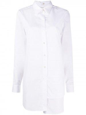 Многослойная рубашка асимметричного кроя Ports 1961. Цвет: белый