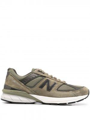 Кроссовки Made in US 990 v5 New Balance. Цвет: зеленый
