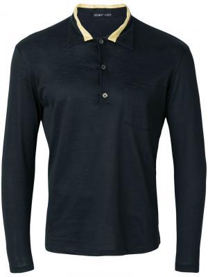 Рубашка-поло с длинными рукавами Helmut Lang Vintage. Цвет: коричневый