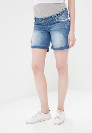 Шорты джинсовые Mamalicious. Цвет: синий