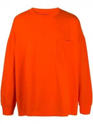 Джемпер с нагрудным карманом и круглым вырезом Martine Rose. Цвет: оранжевый