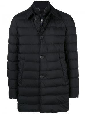 Двухслойное пальто Herno. Цвет: черный