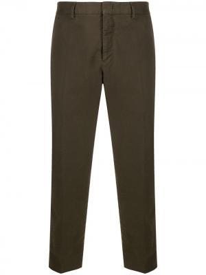 Укороченные брюки Pt01. Цвет: коричневый