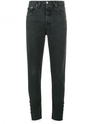Прямые джинсы средней посадки Olivier Theyskens. Цвет: чёрный