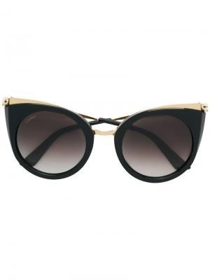 Солнцезащитные очки Panthére de Cartier. Цвет: черный