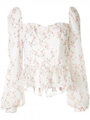 Блузка-бюстье Alice с цветочным принтом We Are Kindred. Цвет: белый