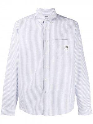 Полосатая рубашка с длинными рукавами Diesel. Цвет: белый