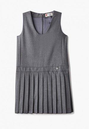 Платье Button Blue. Цвет: серый