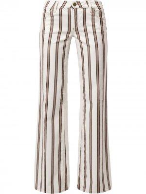 Расклешенные брюки в полоску Gucci Pre-Owned. Цвет: белый
