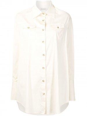 Поплиновая рубашка Ralph Anna Quan. Цвет: желтый