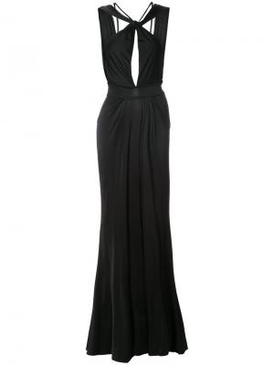 Вечернее платье Wendy Grecian Zac Posen. Цвет: черный