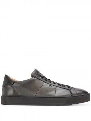 Кеды на шнуровке Santoni. Цвет: черный