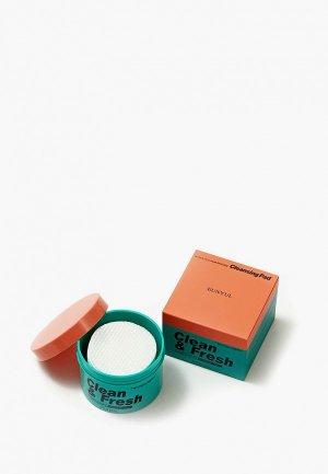Салфетки для снятия макияжа Eunyul. Цвет: зеленый
