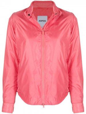Легкая куртка на молнии Aspesi. Цвет: розовый